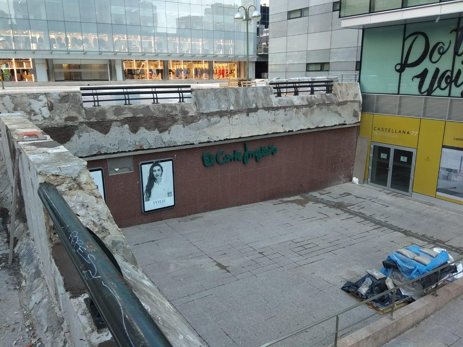Rehabilitación Plaza Zona Comercial Azca